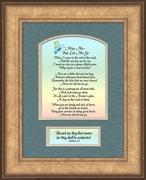 Miss Me Poem Sympathy Scripture Frame (6X8)  Gift of  Encouragement, Comfort, and Condolence in Memorial and Bereavement.