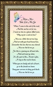 Miss Me Poem Sympathy  Framed (3.5X7)  Gift of  Encouragement, Comfort, and Condolence in Memorial and Bereavement.
