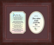 Miss Me Poem Sympathy Photo Frame (8X10) Gift of  Encouragement, Comfort, and Condolence in Memorial and Bereavement.