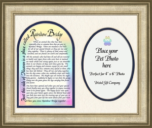Pet Memorial, Best Friend, Poem Rainbow Bridge Photo Frame (8X10) Gift for Remembrance, Encouragement and Comfort