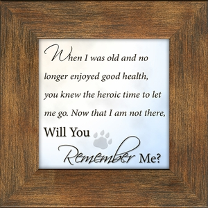 Pet Memorial, Best Friend, Poem Remember Me,  Frame (3.5X3.5) Gift for Remembrance, Encouragement and Comfort