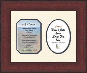 Safely Home Sympathy Poem Photo Frame (8X10) Gift for Memorial, Encouragement and Comfort in the Time of Bereavement
