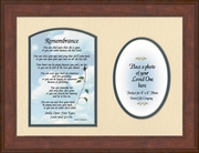 Remembrance Poem for Female Sympathy Photo Frame (9X12) Gift for Memorial, Encouragement and Comfort in the Time of Bereavement