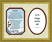 Spanish, Espa�ol, Female Remembrance Poem, Sympathy Framed Gift for Memorial, Encouragement and Comfort in Time of Bereavement, Christian, Catholic