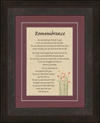 Remembrance Poem for Female Sympathy Frame (6X8) Gift for Memorial, Encouragement and Comfort in the Time of Bereavement