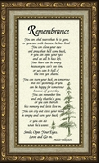 Remembrance Poem for Male Sympathy Poem Frame (3.5X7) Gift for Memorial, Encouragement, Comfort, Condolence in Memorial and Bereavement.