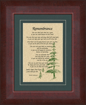 Remembrance Poem for Male Sympathy Poem Frame (6X8) Gift for Memorial, Encouragement, Comfort, Condolence in Memorial and Bereavement