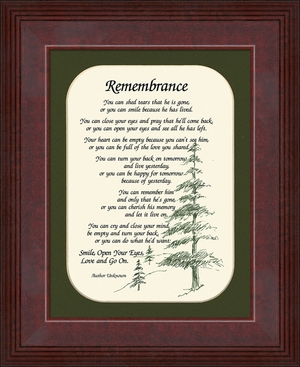 Remembrance Poem for Male Sympathy Poem Frame (6X8) Gift for Memorial, Encouragement, Comfort, Condolence in Memorial and Bereavement.