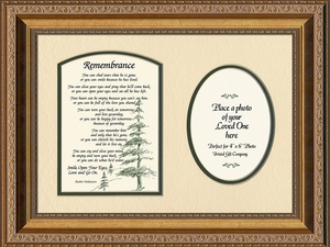 Remembrance Poem for Male Sympathy Poem Photo Frame (9X12) Gift for Memorial, Encouragement, Comfort, Condolence in Memorial and Bereavement.