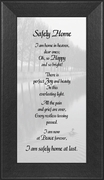 Safely Home Sympathy Poem Frame (3.5X7) Gift for Memorial, Encouragement and Comfort in the Time of Bereavement