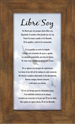 Spanish, Español, I'm Free Sympathy Poem, Libre Soy Poema de Simpatía, Framed Gift for Memorial, Encouragement and Comfort in Time of Bereavement, Plaque