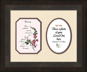 Stairway To Heaven Sympathy Poem Pgoto Frame (8X10) Gift for Memorial, Encouragement and Comfort in the Time of Bereavement