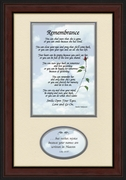 Remembrance Poem for Male Sympathy Poem Frame (7X11) Scripture Gift for Memorial, Encouragement, Comfort, Condolence in Memorial and Bereavement.
