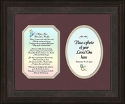 Miss Me Poem (Photo) Frame (8X10) Sympathy Gift of  Encouragement, Comfort, and Condolence in Memorial and Bereavement.