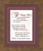 The Empty Chair Memorial Bereavement Poem Frame (8X10) Gift in Remembrance With words of Encouragement