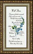 Well Done Poem for Sympathy Frame (3.5X7) Gift for Memorial, Encouragement, Comfort, Condolence in Memorial and Bereavement.