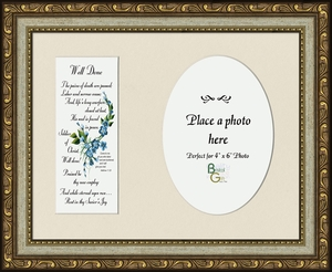 Well Done Poem for Sympathy Frame (7X9) Gift for Memorial, Encouragement, Comfort, Condolence in Memorial and Bereavement.