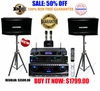 "SINGTRONIC PROFESSIONAL COMPLETE 2000 WATTS KARAOKE SYSTEM <font color=""#FF0000""><b><i>MODEL: 2014 DSP (DIGITAL SOUND PROCESSOR)</i></b></font> FREE: 30,000 SONGS & HDMI OUTPUT"