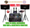 "SINGTRONIC PROFESSIONAL COMPLETE 2000 WATTS KARAOKE SYSTEM <font color=""#FF0000""><b><i>MODEL: 2015 LOADED OVER 50,000 SONGS</i></b></font> WIFI & HDMI & RECORDING FUNCTION"
