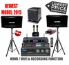 "SINGTRONIC PROFESSIONAL COMPLETE 2000 WATTS KARAOKE SYSTEM <font color=""#FF0000""><b><i>MODEL: 2015 LOADED OVER 50,000 SONGS</i></b></font> WIFI & RECORDING FUNCTION FREE: POWER SUBWOOFER"