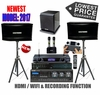 """SINGTRONIC PROFESSIONAL COMPLETE 2000 WATTS KARAOKE SYSTEM <font color=""""#FF0000""""><b><i>MODEL: 2017 LOADED OVER 50,000 SONGS</i></b></font> WIFI & RECORDING FUNCTION FREE: POWER SUBWOOFER"""