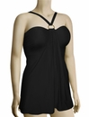 Aerin Rose Convertible Underwire A-Line Swimdress 301 - Black