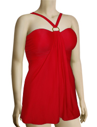 Aerin Rose Convertible Underwire A-Line Swimdress 301 - Poppy
