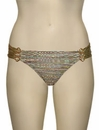 Aerin Rose Ruched Back Hipster Bikini Bottom With Hardware 401 - Enchanted