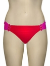 Aerin Rose Ruched Back Hipster Bikini Bottom With Hardware 401 - Poppy