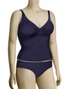 Aerin Rose Shirred Over Shoulder Tankini 72710 - Midnight