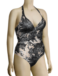 Aerin Rose UW Shirred Halter Swimsuit 83511 - Cosmos