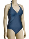 Aerin Rose Shirred Underwire Halter Tankini 223 - Twilight