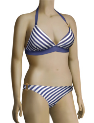 Aerin Rose Triangle With Hammered Ring Bikini Top 81211 - Nautical