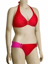 Aerin Rose Underwire Halter Bikini Top With Hardware 114 - Poppy