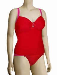 Aerin Rose Underwire Tankini With Hardware 227 - Poppy