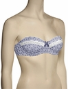 Affinitas Intimates Erin Balconet Multi-Way Bra 9212 - Blue Geo Print