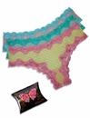 Affinitas Intimates 3-Hipster Pack PP51-7 - Yell/Grn/Pnk