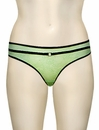Affinitas Intimates Serena Thong 684 - Green / Black