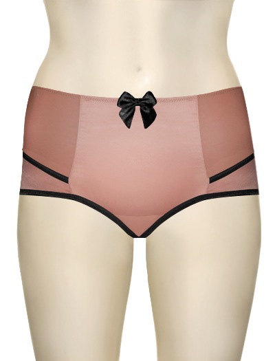 Affinitas Intimates Parfait Charlotte High Waist Brief 6917 - Rose / Black