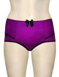 Affinitas Intimates Parfait Charlotte High Waist Brief 6917 - Purple / Black
