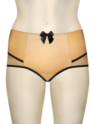 Affinitas Intimates Parfait Charlotte High Waist Brief 6917 - Peach / Black