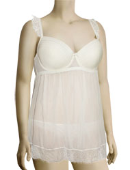 Affinitas Intimates Parfait Honey Molded Babydoll 5808 - Ivory
