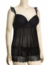 Affinitas Intimates Parfait Honey Molded Babydoll 5808 - Black