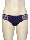 Affinitas Intimates Parfait Kelly Thong 6704 - Navy Blue