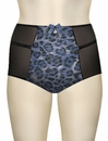Affinitas Intimates Parfait Alexis High Waisted Brief 6551 - Blue / Black