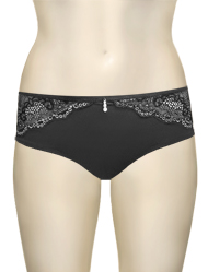 Affinitas Intimates Parfait Marrianne Hipster Shorty P5155 - Black / Silver