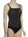 Anita Care Black Pearl Monza Mastectomy Tankini Set 6556 - Black / White
