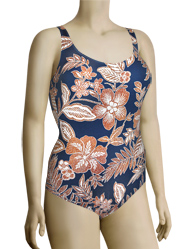 Anita Caribbean Moment Marle One Piece Swimsuit 7798 - Sea Blue