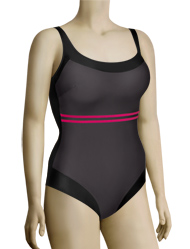 Anita Cherry Blossom Fanny One Piece Swimsuit 7713 - Anthracite