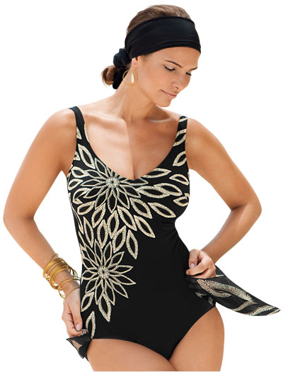Anita Ethno Flower Jamina Swimsuit 7254 - Black